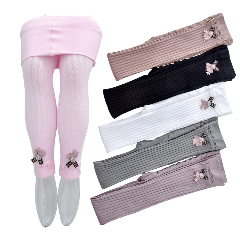 Children Kids Girls Legging Elastic 4-13 Years Ankle-length Knited Skinny Leggings For Girl Baby Wither Clothes