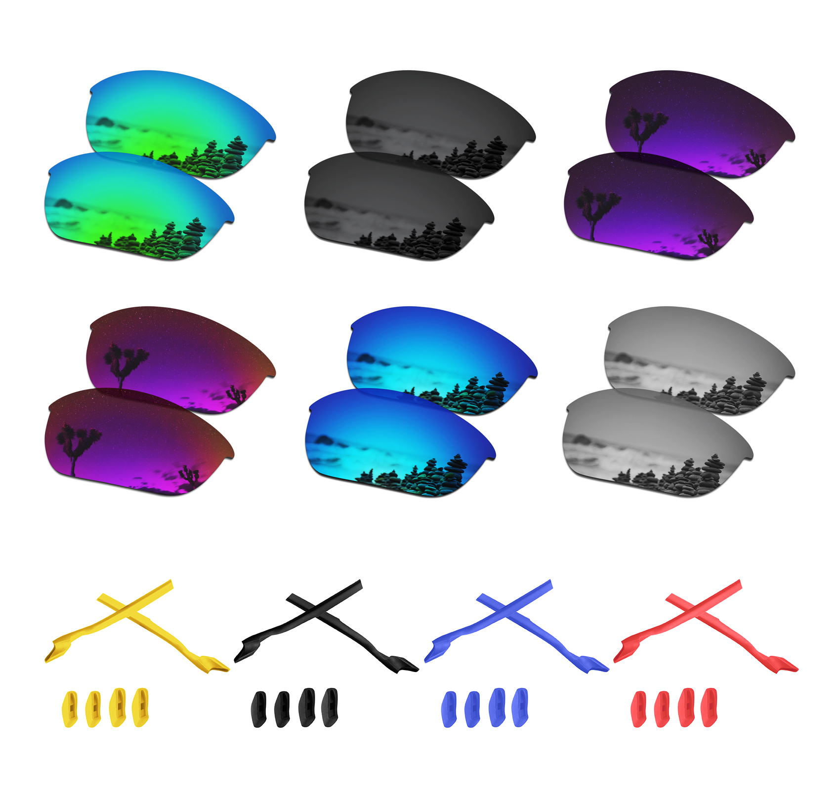 SmartVLT Polarized Replacement Lenses For Oakley Half Jacket 2.0 Sunglasses - Multiple Options