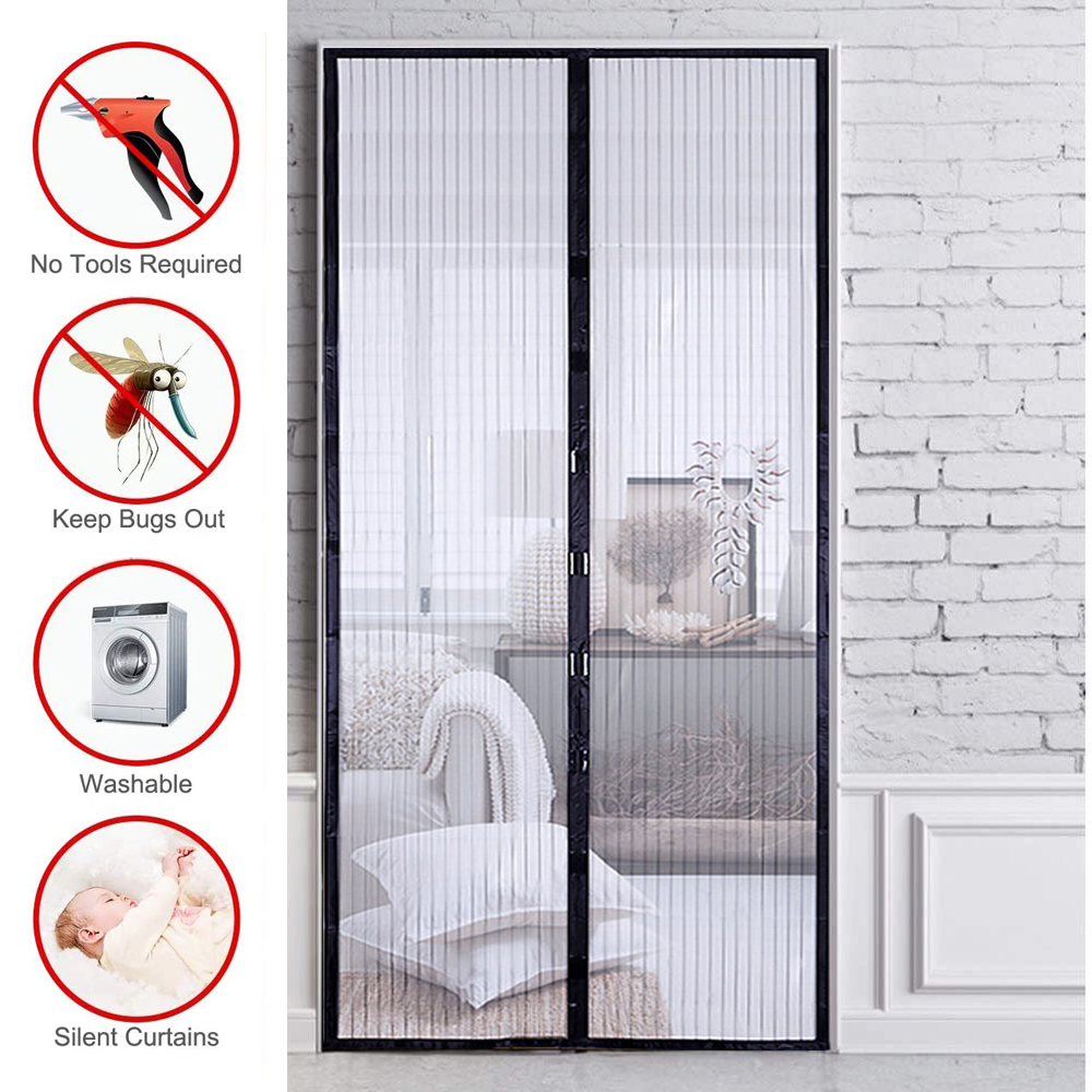 Mosquito Net Curtain Magnets Door Mesh Insect Sandfly Netting with Magnets on The Door Mesh Screen