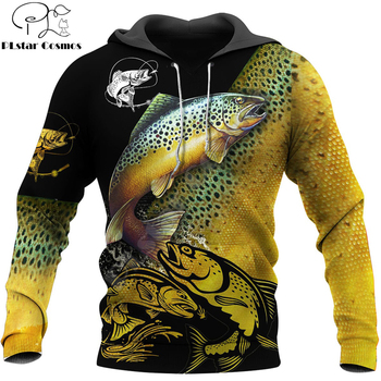 Beautiful Trout Fishing hoodie unisex