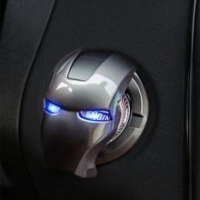 For BMW Audi Iron Man Car Interior Engine Ignition Start Stop Push Button Switch Button Cover Trim Sticker Interior Accessories