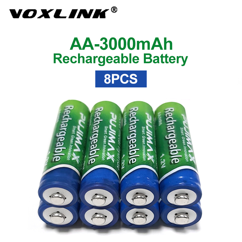 VOXLINK 8PCS <font><b>AA</b></font> <font><b>Battery</b></font> <font><b>1.2V</b></font> 3000mAh rechargeable <font><b>battery</b></font> pre-charged recharge <font><b>ni</b></font> <font><b>mh</b></font> rechargeable <font><b>battery</b></font> For camera microphone image
