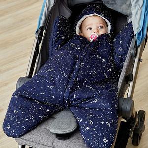 Мультяшный детский спальный мешок с морскими звездами, зимний спальный мешок для новорожденных, хлопковая коляска, 4 цвета на выбор, N9F9