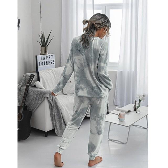 Купить осень зима 2020 модный женский повседневный костюм с принтом картинки цена