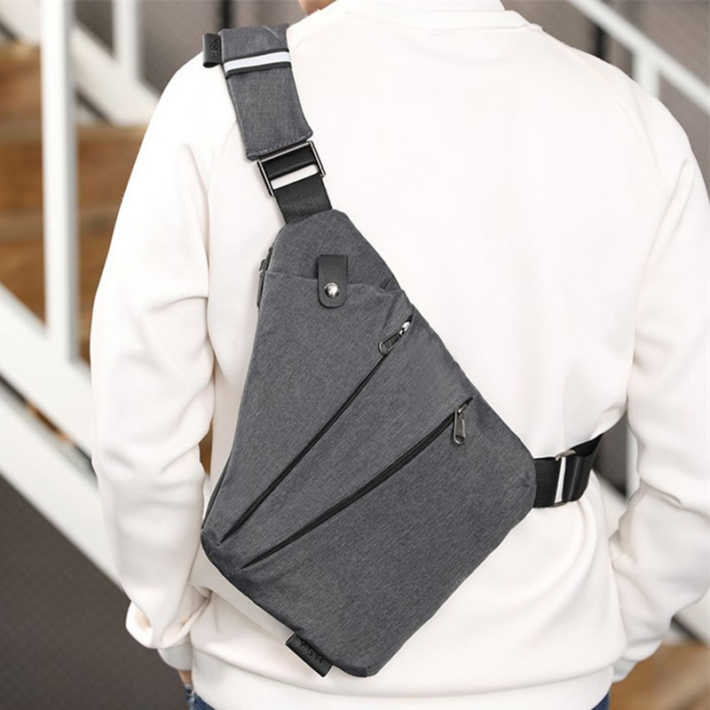 Men's Messenger Bag Oxford Burglar Wearable Bag Multifunctional Solid Durable Outing B2Cshop