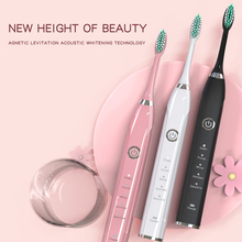 Adult male and female electric toothbrushes Fully automatic charging Bobo toothbrush 4 modes Travel toothbrush (with 5 10 brush