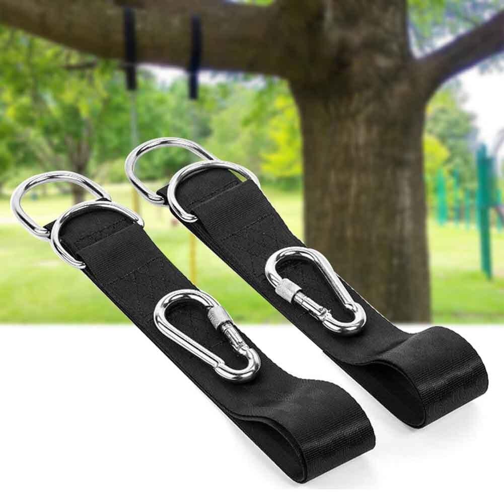 Home Garden Non Slip Hammock Attachment Swing Rope Outdoor Activities Seat Chair Bandage Carabiner Extension Tree Mount
