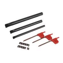 Набор инструментов с ЧПУ 10 Ccmt0602 твердосплавные вставки+ 3 Sclcr расточные держатели инструментов с 3 гайковертами для токарного станка