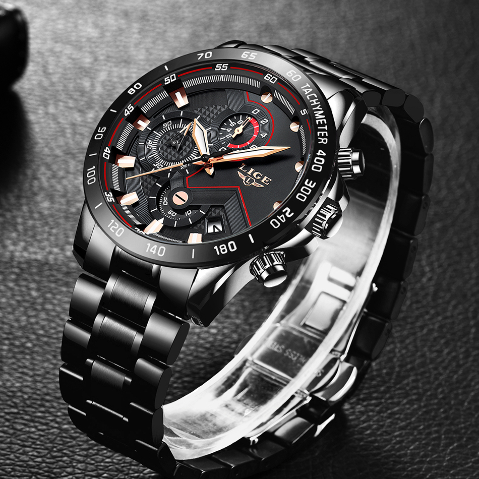 H84ed442c33fc4bbabd07ec66c708ec4bg Relogio Masculino LIGE Chronograph Mens Watches Stainless Steel Waterproof Date Quartz Watch Men Business Classic Male Clock+box