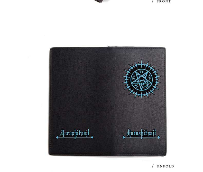 Black Butler Wallet Ciel Phantomhive Sebastian Michaelis Black Long PU Purse (10)