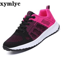цены 2019 spring autumn new board shoes female flying woven breathable mesh women's shoes casual shoes flat student shoes women