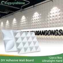 Wall-Board Home-Decor Waterproof 12pcs/Lot Embossed Stereoscopic DIY 3D Kaguyahime