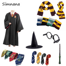 Cosplay Costume Gryffindor Slytherin Ravenclaw Hufflepuff Potter Magic Robe Cape Cloak Halloween Costumes Christmas
