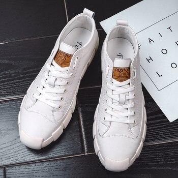Men Casual Shoes Outdoor Brand Men Vulcanize Shoes Comfortable Fashion Men Shoes Spring Small White Shoes