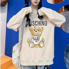 Casual Pullover Warm-Sweatshirts Japanese-Streetwear Anime Women Bear Cute Harajuku Hip-Hop