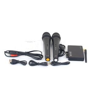 Image 5 - K2 kablosuz Mini aile ev Karaoke yankı sistemi el şarkı makinesi kutusu mikrofon Karaoke çalar