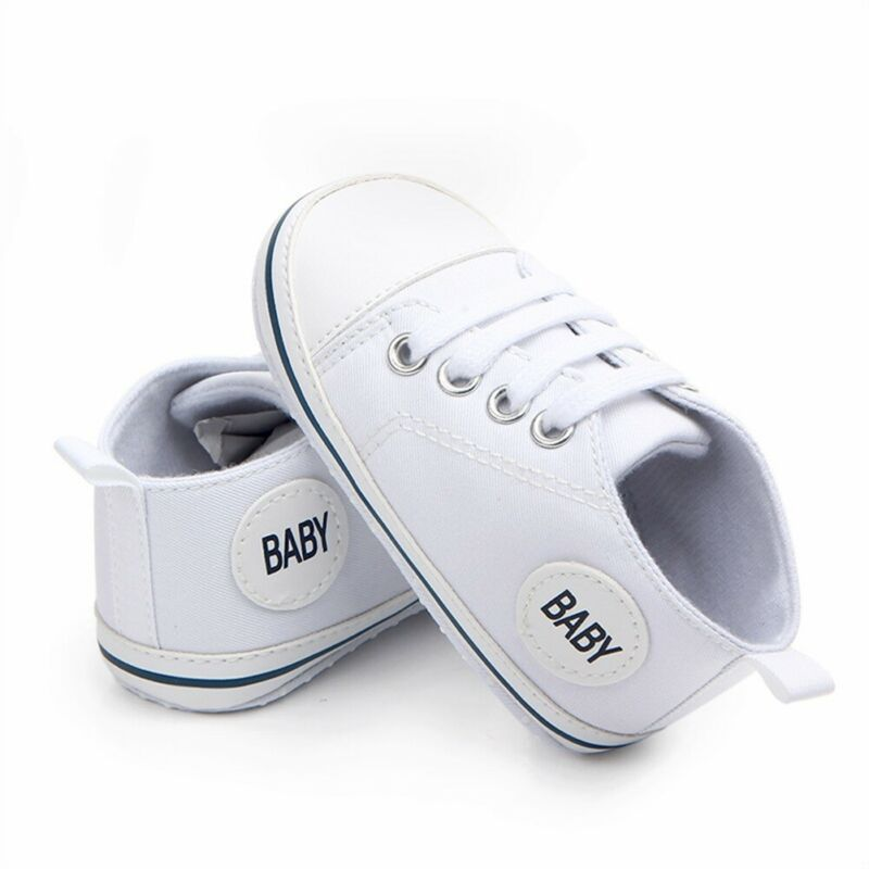 2020 Baby First Walkers Cute Newborn Kid Canvas Sneakers Baby Boy Girl Soft Sole Crib Shoes Pre Walkers 2