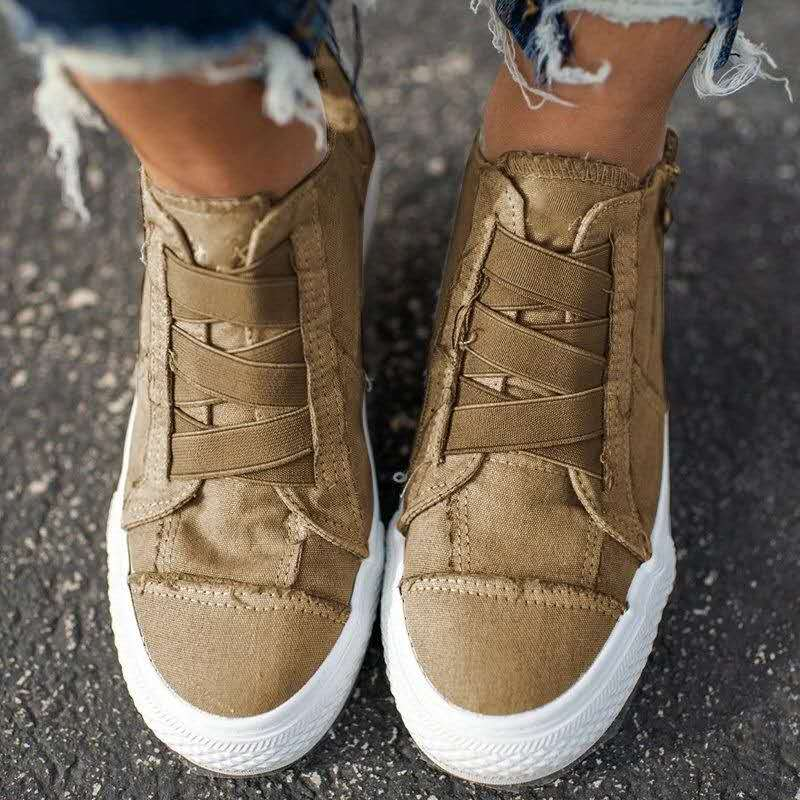 Plus Size Casual Women Shoes 2020 Summer New Elastic Band Women Canvas Shoes Ladies Sneakers  Zapatos Mujer VT1223 (7)