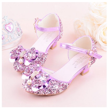 Flowers Girls Princess Sandals 2019 New Brand Summer Children Wedding Shoes For Student Glitter Kids Party Shoe Size 27~37