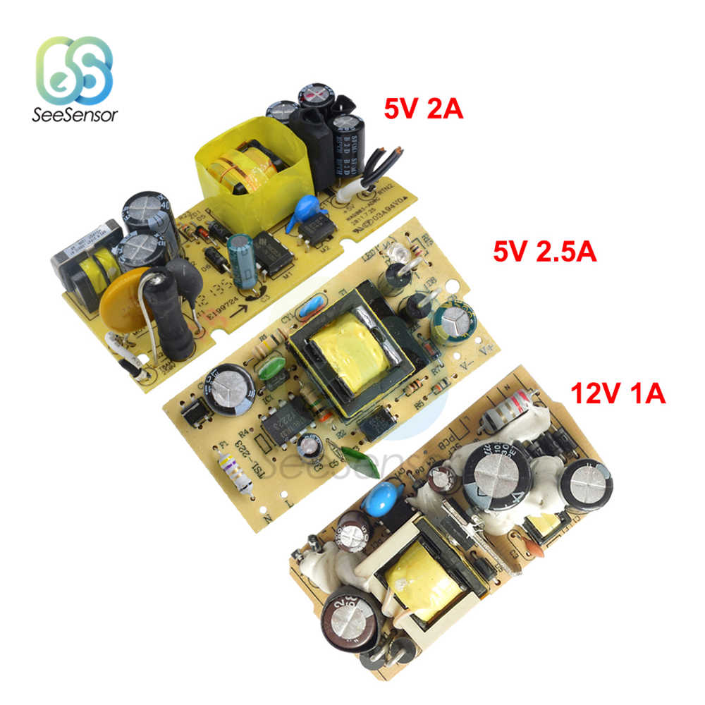 AC-DC AC 100 V-240 V untuk DC 5V 2A/2.5A 12V 1A Switching Power Supply modul Switch DC Regulator Tegangan 110V 220V