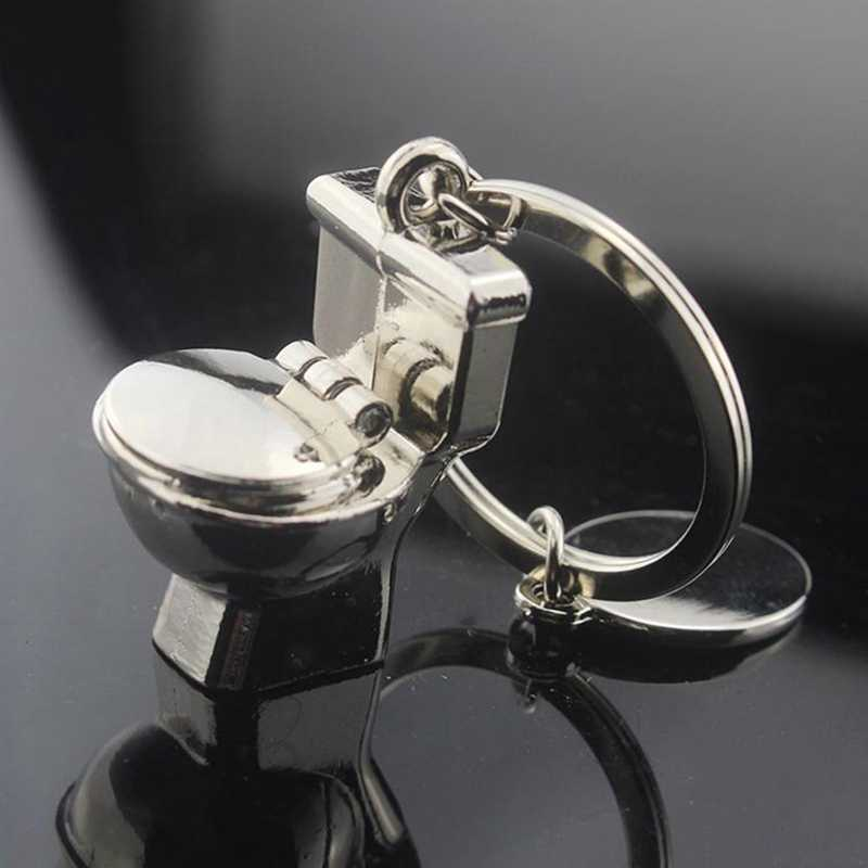 1 шт. новый креативный металлический милый мини-брелок для туалета, персональный классический брелок для ключей, аксессуары брелоки для ванной комнаты, лучший подарок