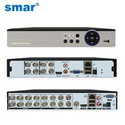 Видеорегистратор Smar 8CH 16CH 5M-N 5 в 1 Гибридный для AHD-камеры аналоговая камера 5MP IP-камера P2P NVR система видеонаблюдения H.265 Новинка