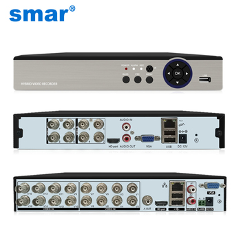 Smar 8CH 16CH 5M-N 5 in 1 Hybrid DVR Video Recorder for AHD Camera Analog 5MP IP P2P NVR CCTV System H.265 New - discount item  25% OFF Video Surveillance