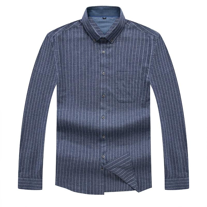 8XL Plus Size  Casual Spring Luxury Striped Long Sleeve Slim  Fit  Men Shirt Streetwear Social Dress Shirts Mens Fashions Jersey