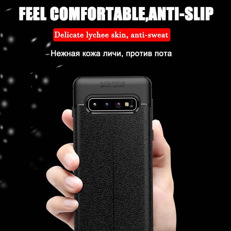 Роскошный мягкий чехол из искусственной кожи для samsung Galaxy S10 S9 S8 Plus S10E Lite противоударный полный чехол для samsung Note 9 8 силиконовый чехол