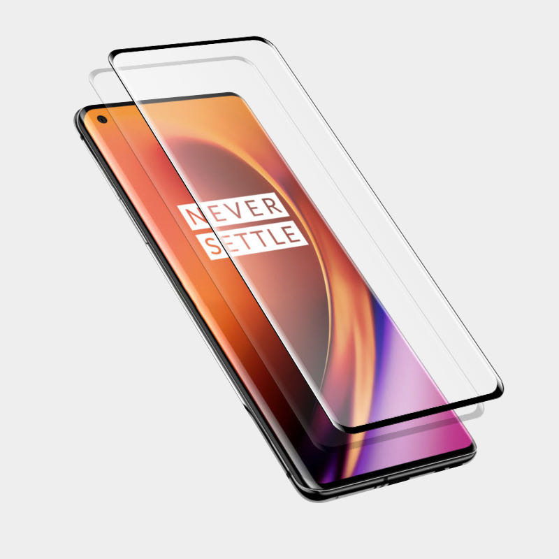 2pcs/lot Full Glue Tempered Glass For Oneplus 8 Pro Screen Protector Temper Glass Film For Oneplus 8