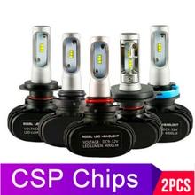 2 шт., Автомобильные светодиодные лампы H4 H7 H1 H3 9007 H27 881 HB3 HB4 12 В 50 Вт 6000 лм