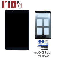 LCD Display For LG G Pad V480 V490 8.0 inch Matrix Touch Screen Digitizer Panel Sensor Glass Tablet Assembly Replacement Black