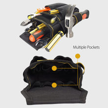Black Electrician Tool Bag Waist Pocket Pouch Belt Storage Holder Maintenance High Quality Durable(China)