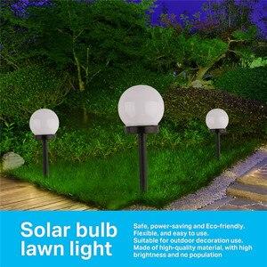 Image 5 - 6 sztuk/partia światła słonecznego ogród wodoodporna żarówka LED trawnik ogród światła na zewnątrz Camping noc światła zasilany energią słoneczną krajobraz lampy