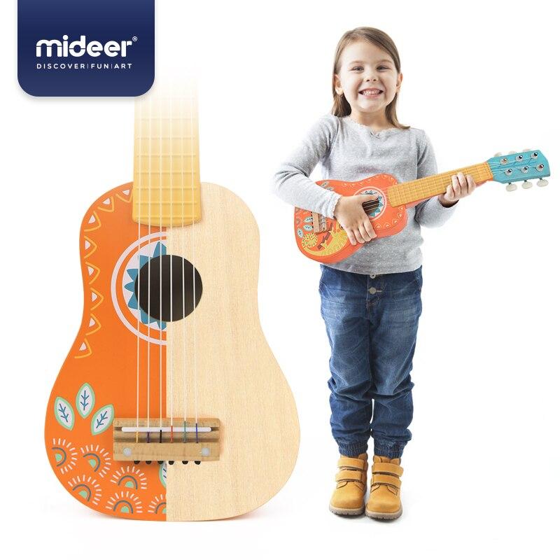 Micerf guitare bois guitare Ukelele tilleul 6 cordes Guitarra éducatif musique Concert Instrument jouet enfants cadeau - 2