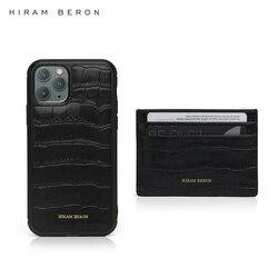 Hiram Beron, бесплатная доставка, кожаный бумажник с тиснением под крокодиловую кожу для iphone 11 Pro Max, чехол, Прямая поставка