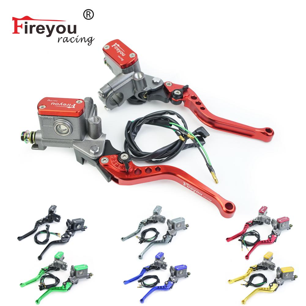 Brake Pump Master Cylinder Motorcycle lever Handlebar Hydraulic clutch Racing motorbike 22mm For Honda Yamaha Kawasaki Suzuki title=