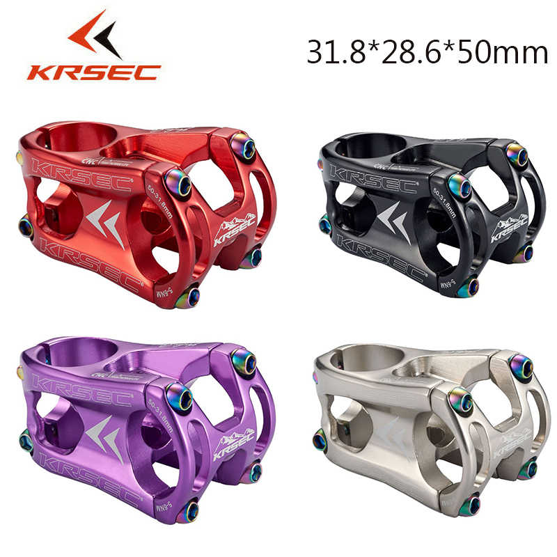 US KRSEC MTB Bicycle Stems 50mm 1-1//8 in 7075 Aluminum Alloy Bar Short Stem 1 PC