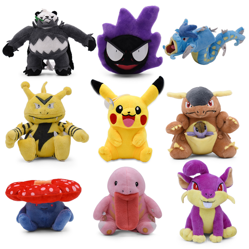 takara-tomy-font-b-pokemon-b-font-doll-gyarados-rattata-gastly-kangaskhan-cartoon-stuffed-pikachu-plush-christmas-for-kids-pkm-toy