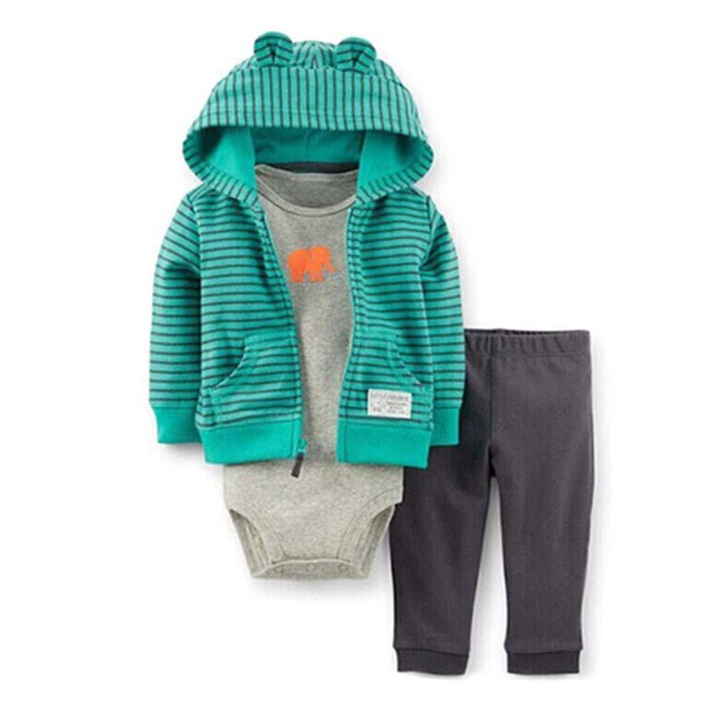 Комплект из 3 предметов детский осенний спортивный свитер с рисунком для мальчиков, мягкий свитер с длинными рукавами Модный хлопковый Детский свитер с рисунком - Цвет: Хаки