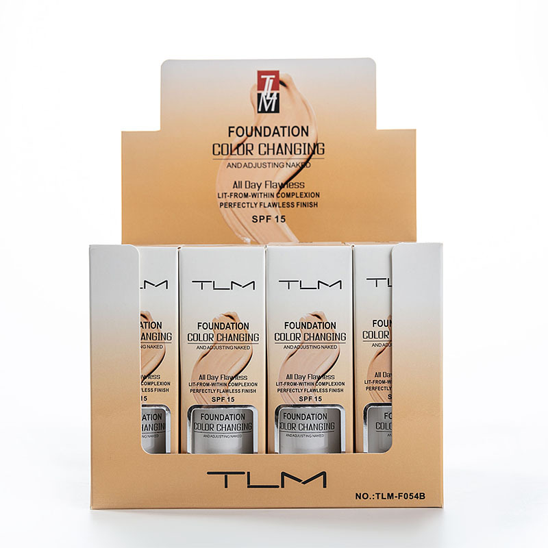 TLM Color Changing Concealer Face Foundation Profesional Face Makeup Waterproof Lasting Brightening Skin Care Liquid Foundation