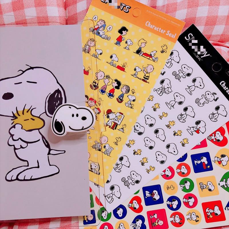Купить с кэшбэком Ins Popular Cute Cartoon Rogue Dog Sticker For Handbook Notebook Diary Decorative Mobile Phone Diy Stickers Children's Gift