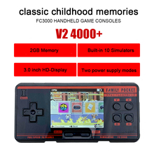 2020 Handheld Game Console Video Gaming Console built-in 1091Games Simulator FC3000 Handheld Children Color Game PXPX7