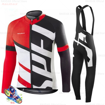 Primavera 2020 pro equipe raudax camisa de ciclismo outono mtb ciclismo roupas verão manga longa triathlon mountain bike bib pant conjunto 1