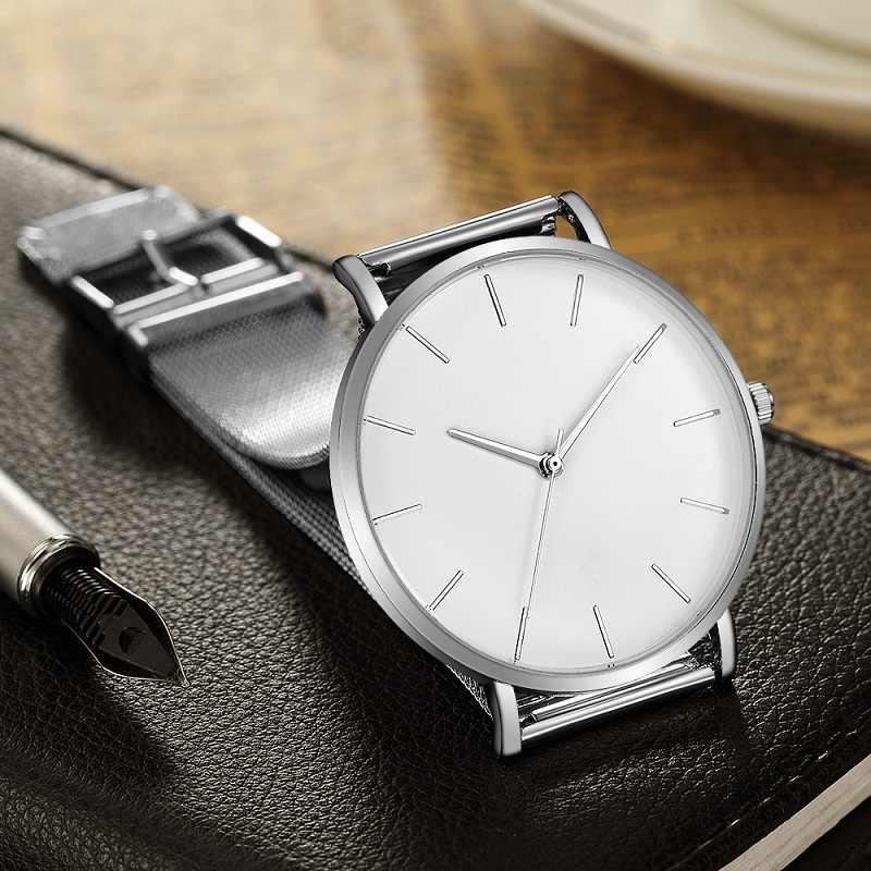 Luxury นาฬิกาผู้ชายตาข่าย ULTRA-บางสแตนเลสสีดำนาฬิกาข้อมือชายนาฬิกานาฬิกา reloj hombre relogio masculino
