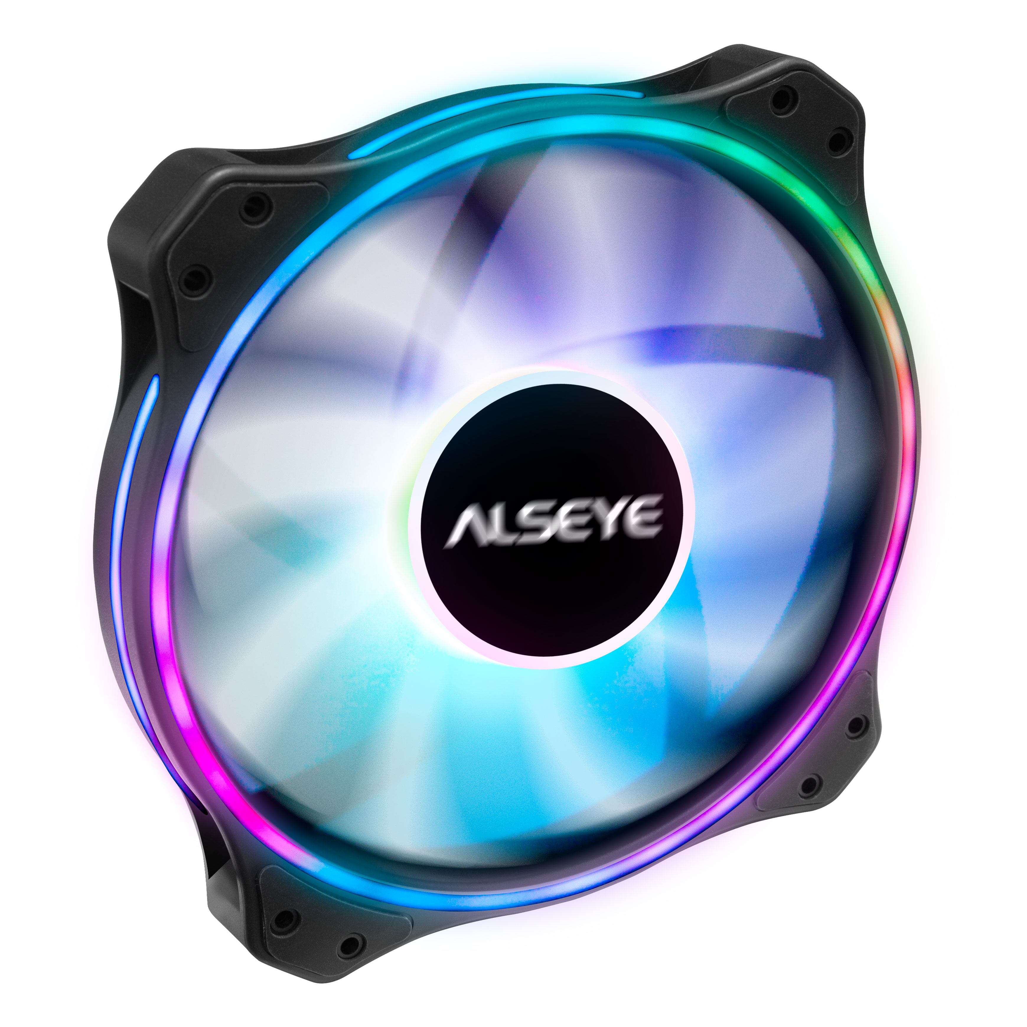 ALSEYE AURO Series 200mm ARGB LED Computer Case Cooling Fan 4pin PWM Remote Control RGB Lighting