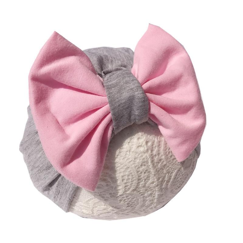 Piel Rosa Suave Algodón Jersey Elástico Wrap Banda para la Cabeza Conjunto Bebé Recién Nacido Foto Prop
