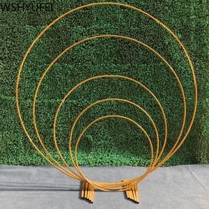 Image 1 - Kunstmatige Smeedijzeren Ronde Ring Boog Deur Simulatie Bloem Rij Huis Vakantie Viering Bruiloft Kerst Decoratie Ems
