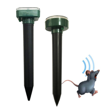 1шт солнечных батареях ультразвуковой Аукстический мышь Крот отпугиватель грызунов вредителей репелленты отпугиватель двор сад открытый двор светодиодные лампы