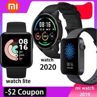 Xiaomi-reloj inteligente Mi Watch con GPS, WIFI, ESIM, pulsera con llamadas telefónicas, Android, lite, Bluetooth, Monitor de ritmo cardíaco y Fitness